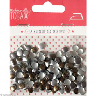 Clou thermocollant rond - Assortiment Argent Or et Gris anthracite - 5 mm x 300 pcs