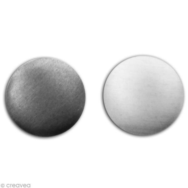 Clou thermocollant rond - Assortiment Argent et gris anthracite - 8 mm x 200 pcs - Photo n°2