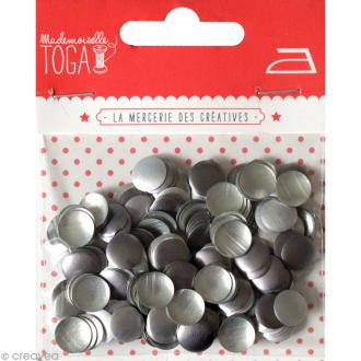 Clou thermocollant rond - Assortiment Argent et gris anthracite - 8 mm x 200 pcs