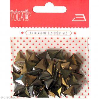 Clou thermocollant triangle - Assortiment Argent Bronze et Gris anthracite - 8 mm x 120 pcs