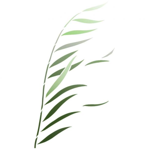 Pochoir Herbe haute 40 x 66 cm - Photo n°1