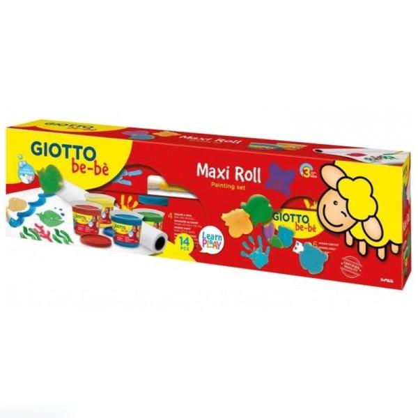 Maxi kit de peinture au doigt bébé Giotto be-bè - 14 pcs - Photo n°1