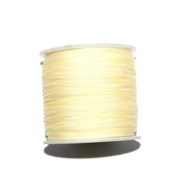 Fil nylon tressé 0,8 mm crème x1 m - Photo n°1