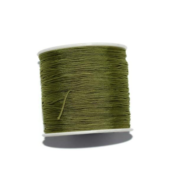 Fil nylon tressé 0,8 mm vert olive x1 m - Photo n°1