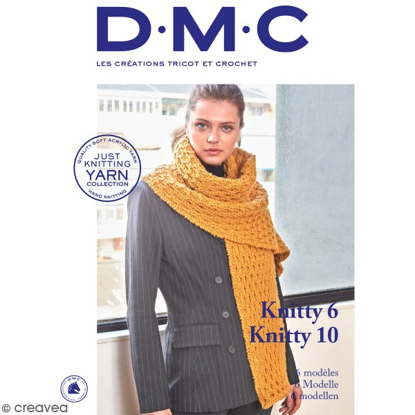 Catalogue tricot et crochet DMC - Knitty 6 et Knitty 10 - 6 modèles adultes - Photo n°1