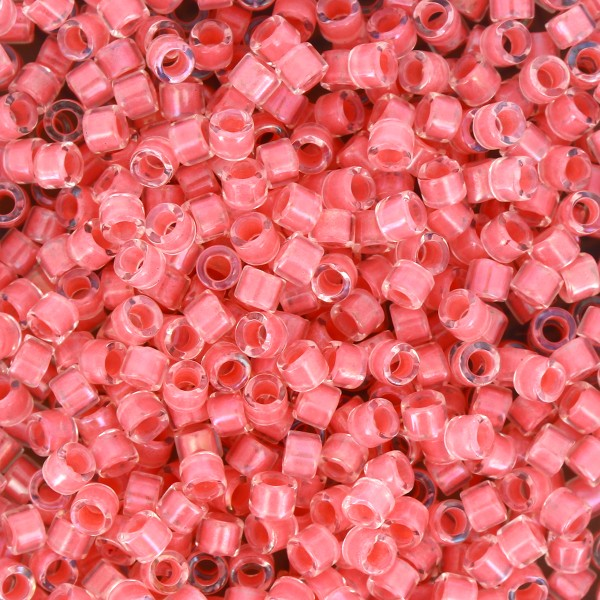 Perles Miyuki Delica 11/0 - Lined Rose Pink AB - 5g - Photo n°1