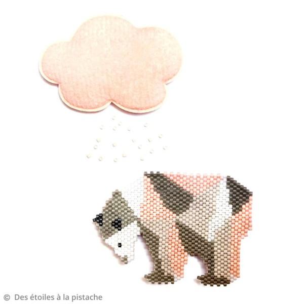 Perles Miyuki Delica 11/0 - Opaque CreamAB - 5g - Photo n°4