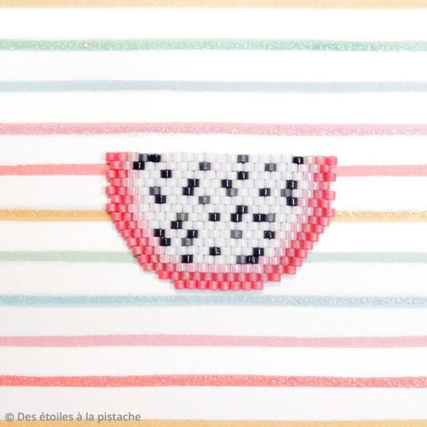 Perles Miyuki Delica 11/0 - Opaque Red AB - 5g - Photo n°6