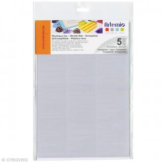 Plastique fou - Transparent - 21,5 x 28 cm - 5 pcs