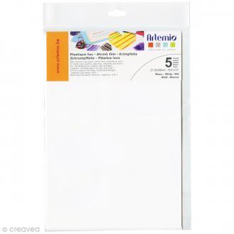Plastique fou - Blanc - 21,5 x 28 cm - 5 pcs