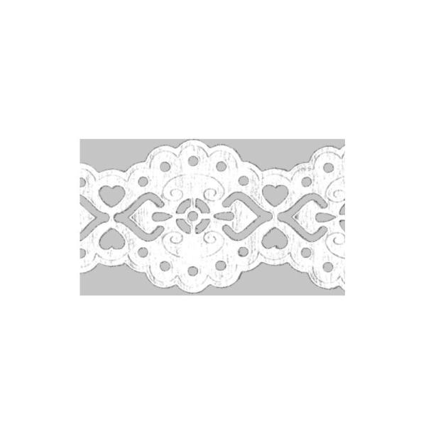 Dentelle en papier, auto-adhésive - Baroque blanc - Photo n°1