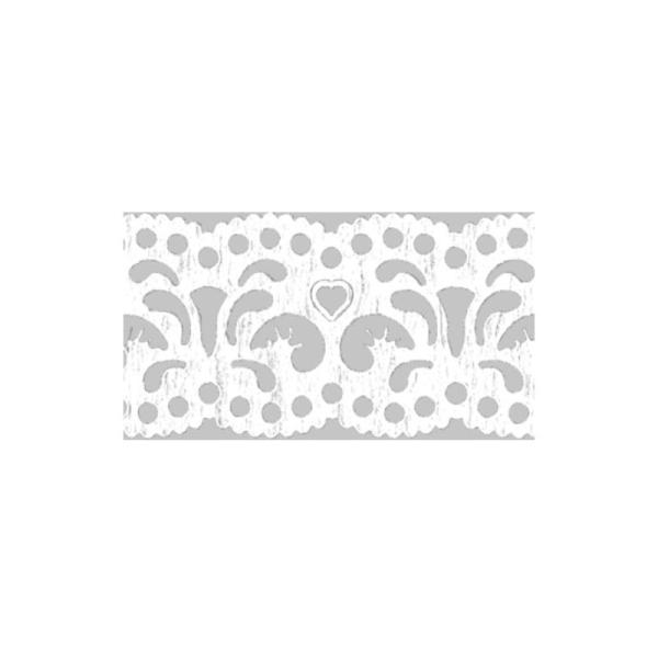 Dentelle en papier, auto-adhésive - Filigranes blancs - Photo n°2