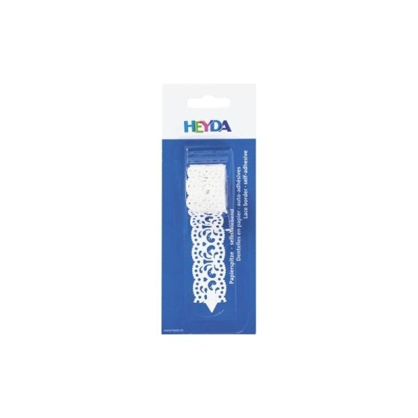 Dentelle en papier, auto-adhésive - Filigranes blancs - Photo n°1