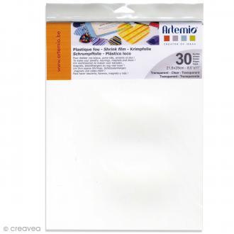 Plastique fou - Transparent - 21,5 x 28 cm - 30 pcs