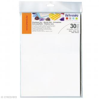 Plastique fou - Blanc - 21,5 x 28 cm - 30 pcs