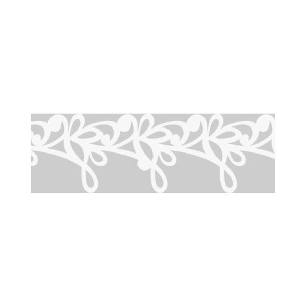 Dentelle en papier, auto-adhésive - Rococo Blanc - Photo n°1