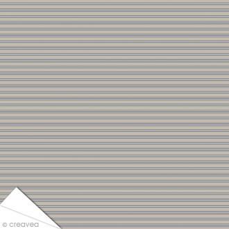 Papier Artepatch Long Island - Lignes horizontales - 40 x 50 cm