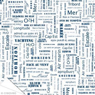Papier Artepatch Long Island - Texte - 40 x 50 cm
