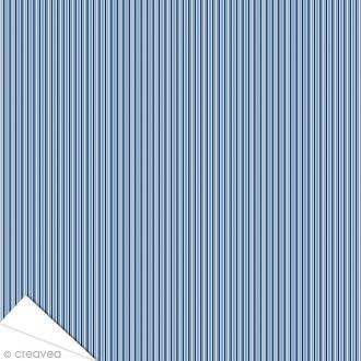 Papier Artepatch Long Island - Lignes verticales bleues - 40 x 50 cm