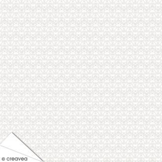 Papier Artepatch Charme - Volutes fond blanc - 40 x 50 cm
