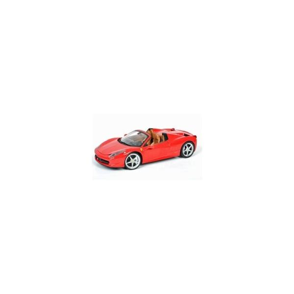 Miniature Ferrari 458 Spider rouge - Echelle 1/18 - Hotwheels - Photo n°1