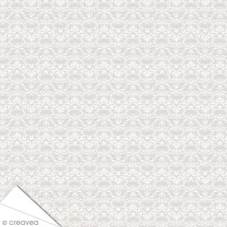 Papier Artepatch Charme - Volutes fond gris - 40 x 50 cm