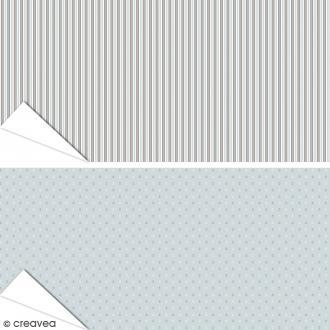 Papier Artepatch Long Island - Ancres & Rayures - 40 x 50 cm - 2 pcs