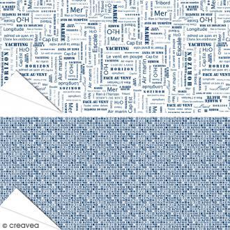 Papier Artepatch Long Island - Drapeaux & Textes - 40 x 50 cm - 2 pcs
