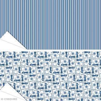 Papier Artepatch Long Island - Phares & Rayures - 40 x 50 cm - 2 pcs