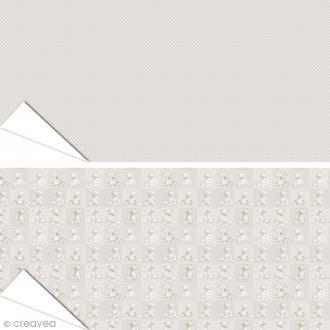 Papier Artepatch Charme - Nounours & Pois - 40 x 50 cm