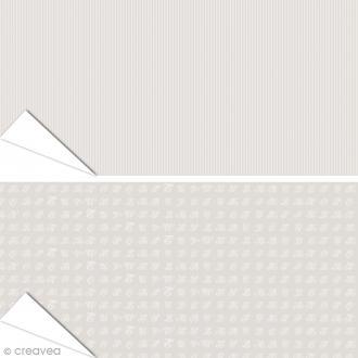 Papier Artepatch Charme - Monogrammes & Rayures - 40 x 50 cm