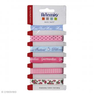 Ruban Artemio - Sweet - 1cm x 1m - 6 pcs