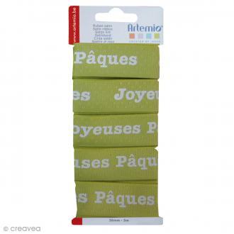 Ruban Artemio - Joyeuses Pâques - 2,6cm x 3m - 5 pcs