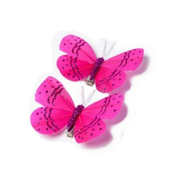 Or pailleté plume papillon 7,5 cm-Décorations de table