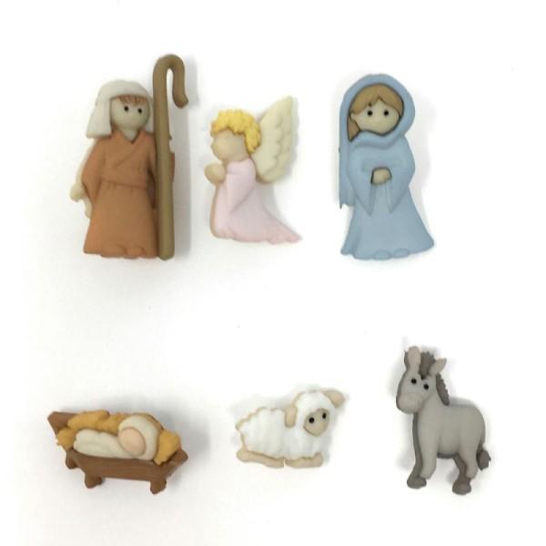 Boutons Dress It Up : Collection Noël - Nativity - Nativité Scrapbooking - Photo n°1