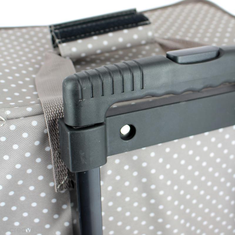 Valise de rangement Artemio - Taupe à pois - 42 x 25 x 37 cm - Photo n°4
