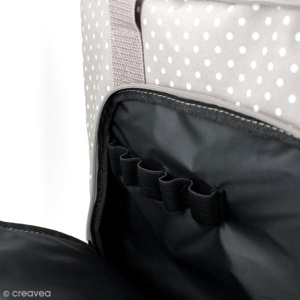 Valise de rangement Artemio - Taupe à pois - 42 x 25 x 37 cm - Photo n°2