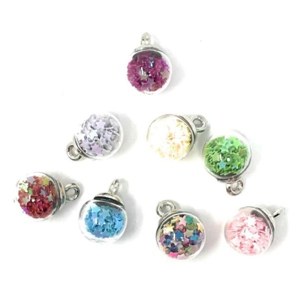 Boutons Dress It Up : Rainbow Bubbles - Arc-en-ciel Mini Boules Scrapbooking - Photo n°1