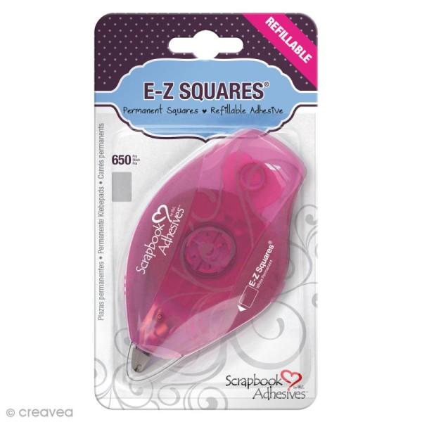 Dérouleur adhésif double-face E-Z Squares  - Bande Rectangles - 650 pcs - Photo n°1