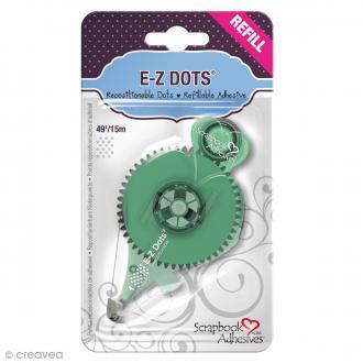 Recharge adhésive E-Z Dots - Bande Pois - Repositionnable - 15 m