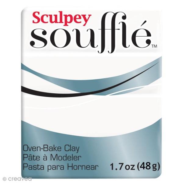 Pâte Sculpey Soufflé - Blanc Igloo - N° 6001 - 48 g - Photo n°1