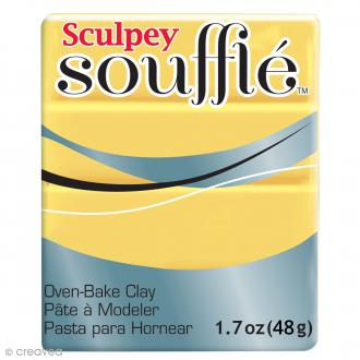 Pâte Sculpey Soufflé - Jaune Canary  - N° 6072 - 48 g