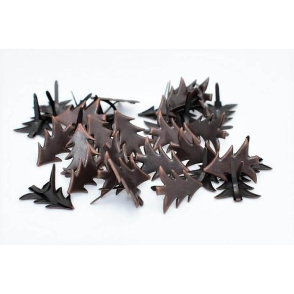 15 Brads sapins de Noël bronze, attaches parisiennes scrapbooking - Photo n°1