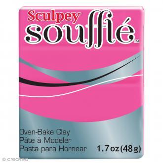 Pâte Sculpey Soufflé - Rose So 80's - N° 6503 - 48 g
