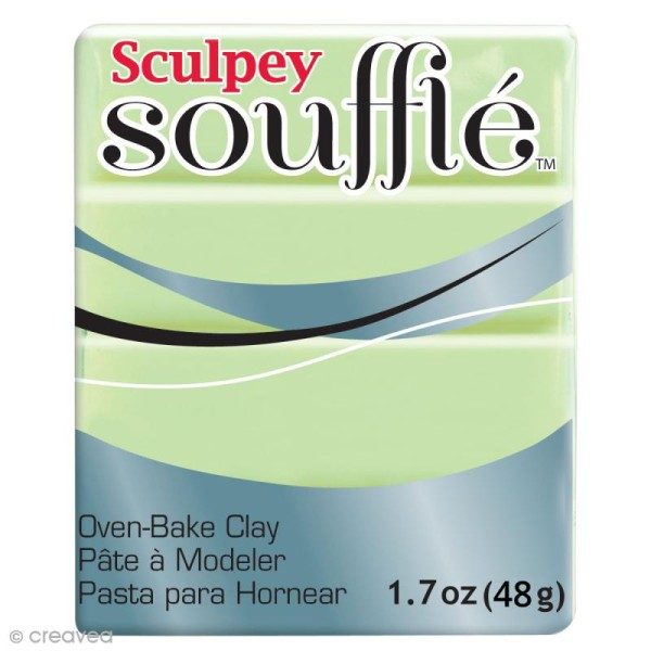 Pâte Sculpey Soufflé - Vert Pistache - N° 6629 - 48 g - Photo n°1