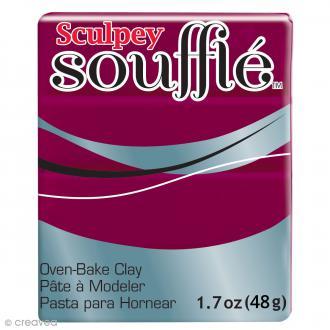 Pâte Sculpey Soufflé - Rouge Bordeaux - N° 6643 - 48 g