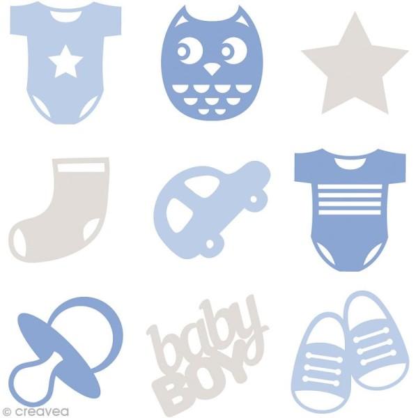Set de mini silhouettes en feutrine - Bébé garçon - 45 pcs - Photo n°1