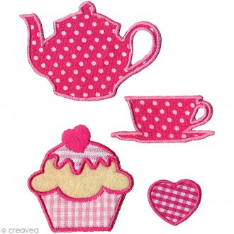 Motif thermocollant brodé - Sweet - 4 pcs