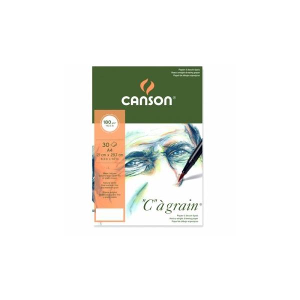 Bloc Canson à grain 180g Papiers:30F / 21x29,7 A4 - Photo n°1