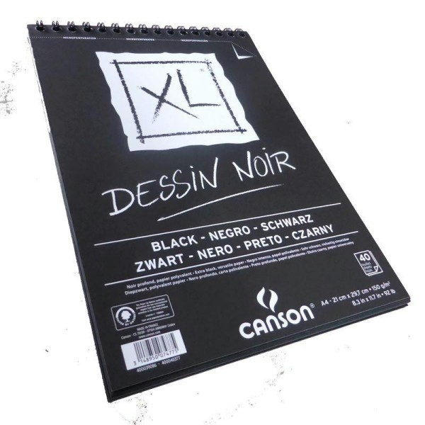 Bloc Canson XL - Dessin Noir Papiers:40F / 29,7x42 A3 - Photo n°2